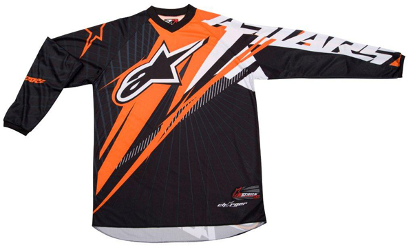 Maglia cross-enduro Alpinestars Charger Spiker nero-arancio