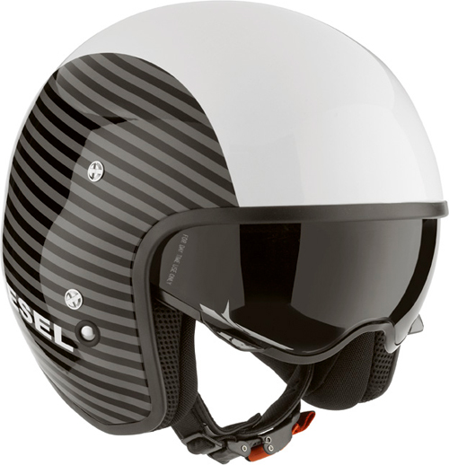 Diesel Hi-Jack Multi Stripes jet helmet white