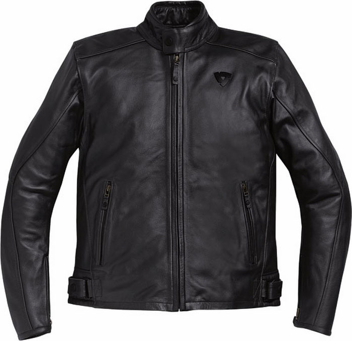 Giacca moto pelle Rev'it Rebel nera