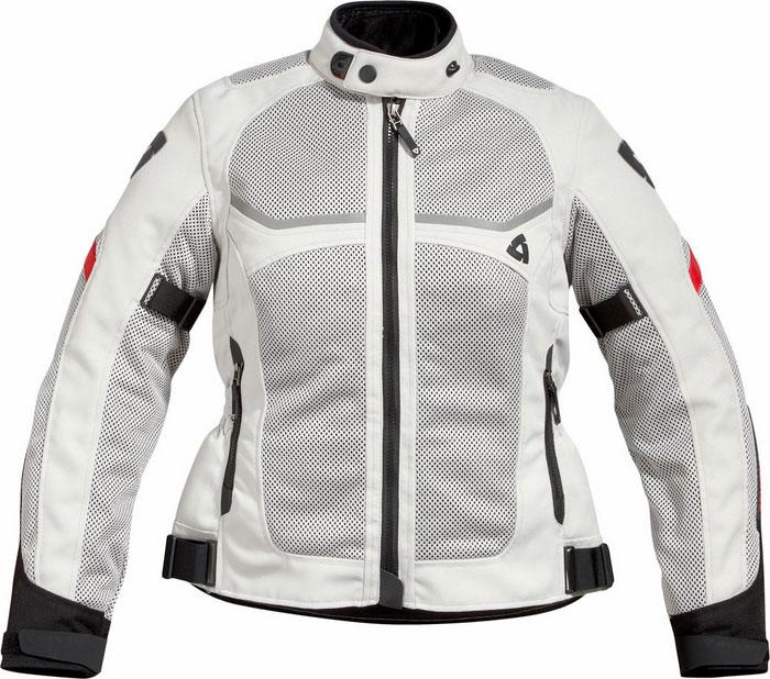 REV'IT Tornado Ladies motorcycle jacket col. silver-black