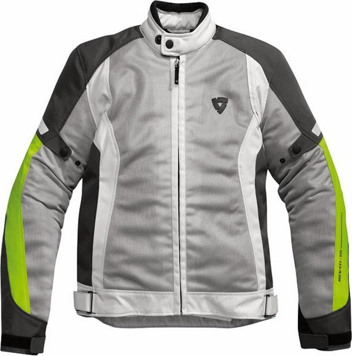 Rev'it airwave summer motorcycle jacket silver-neon yellow