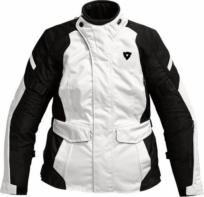 Rev'it Indigo Ladies motorcycle jacket silver-black