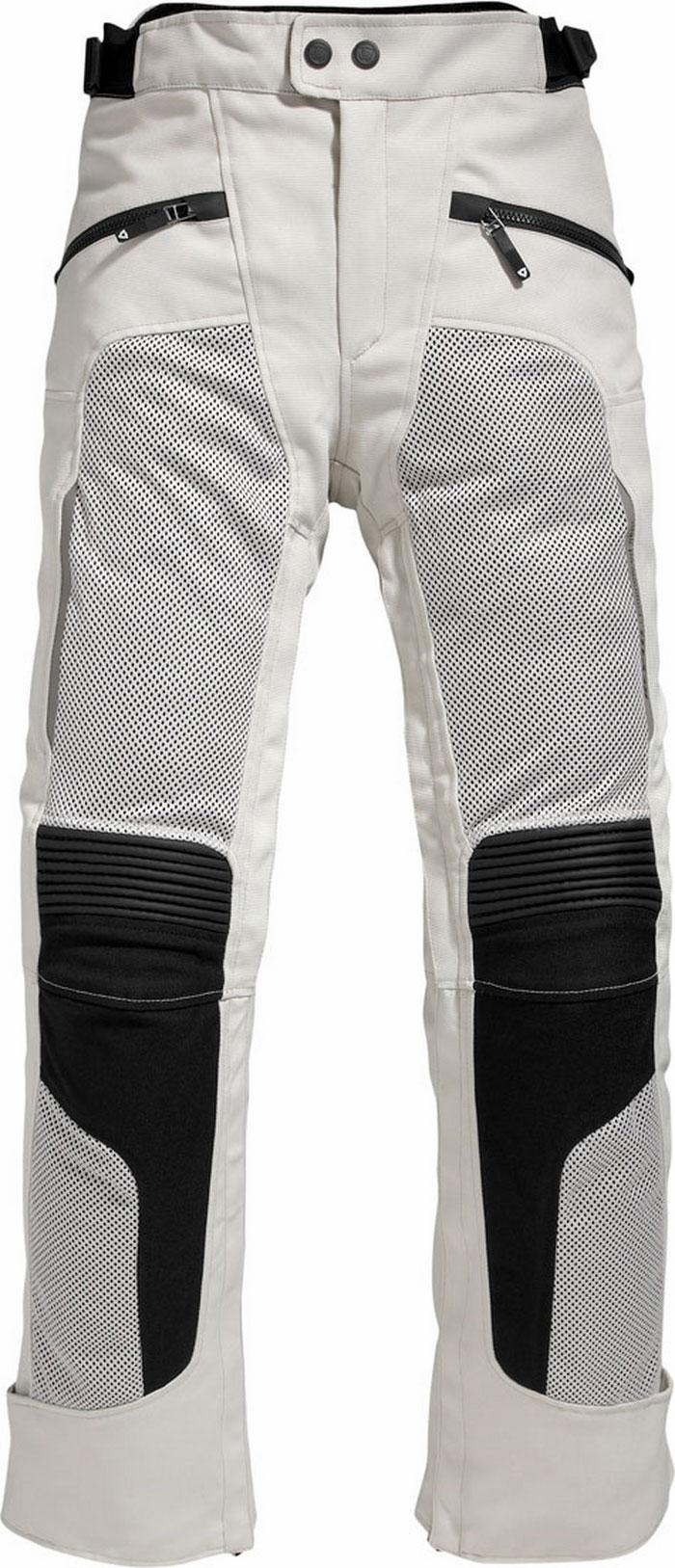 Pantaloni moto donna Rev'it Tornado Ladies argento neri