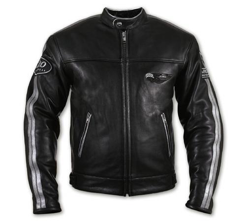 A-PRO Silverstone Custom Leather Jacket - Col. Black/Silver Gr