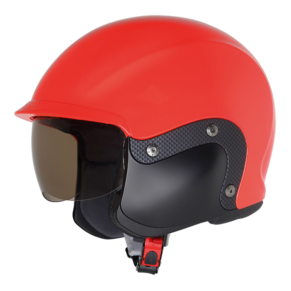 Suomy 3LOGY modular helmet double omologation p-J red fluo