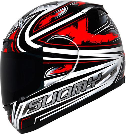 Suomy Apex Steely red full-face helmet