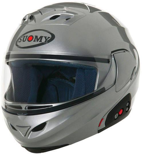 SUOMY D20 + SCS Plain open-face helmet  silver