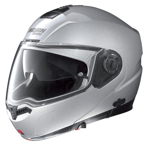 Casco moto Nolan N104 Special N-Com salt silver