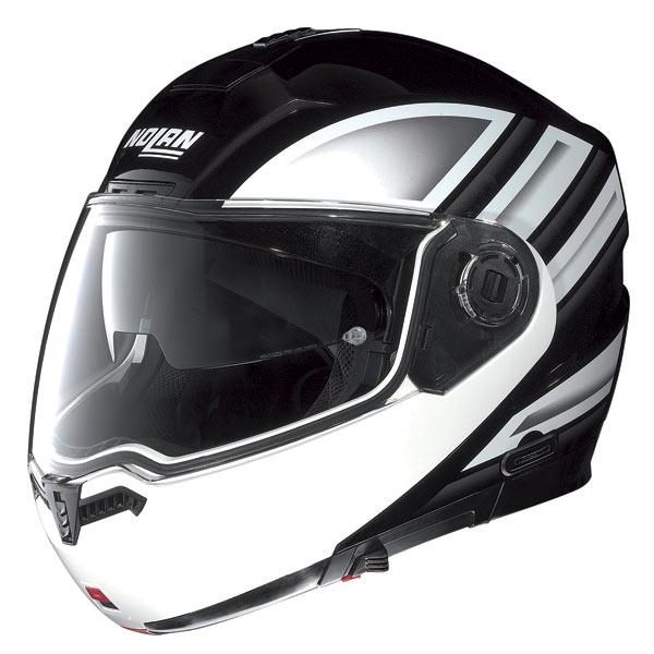 Casco moto Nolan N104 Voyage N-Com nero metal