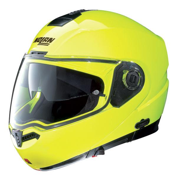 Casco moto Nolan N104 Hi-Visibility N-Com giallo fluo