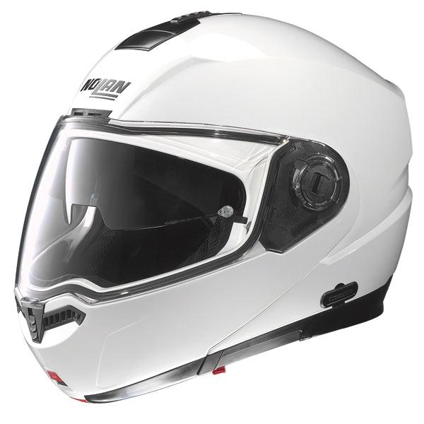 Casco moto Nolan N104 Classic N-Com bianco metal
