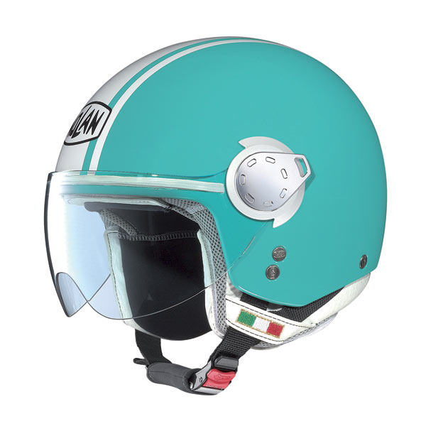 Nolan N20 Traffic Caribe Plus Green Sea jet helmet
