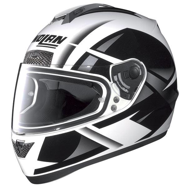 Casco moto Nolan N63 Impulse bianco-nero