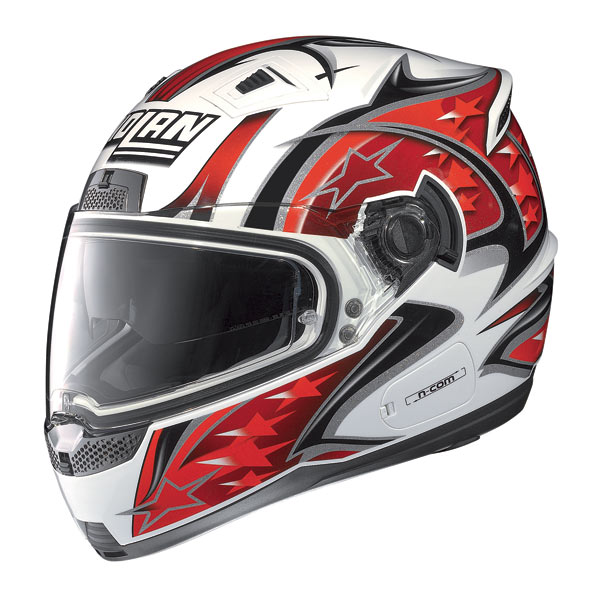 Nolan N85 Fight N-com fullface helmet white-red