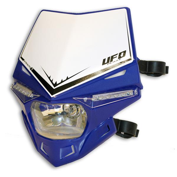 Ufo Plast Stealth headlight single-colour blue reflex