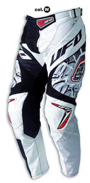 Pantaloni cross Ufo Plast Made in Italy 2012 Eclipse bianco-neri