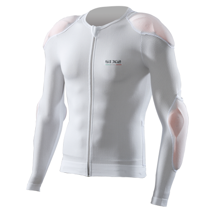 Sixs long sleeved shirt with protections predisposition White