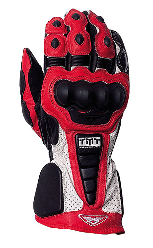 Prexport Pro Race leather gloves Red