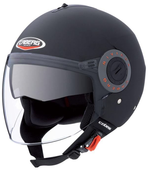Caberg Riviera V2+ jet helmet Matt Black
