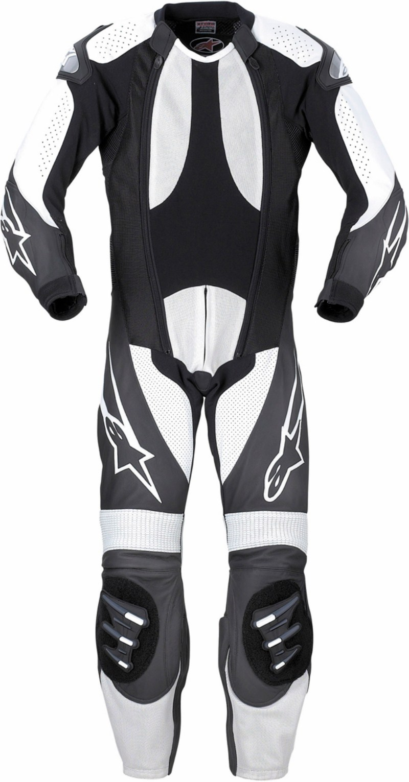 Alpinestars S-1 Supermoto leather suit black-gray