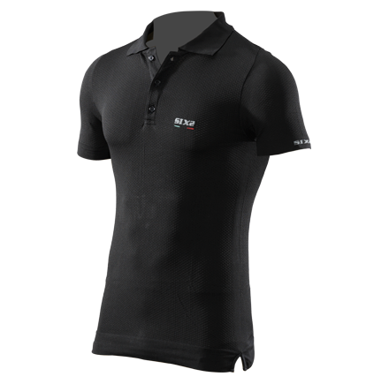 Sixs short sleeved exltalight polo Black