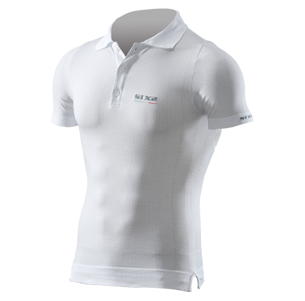 Sixs short sleeved extra light polo White