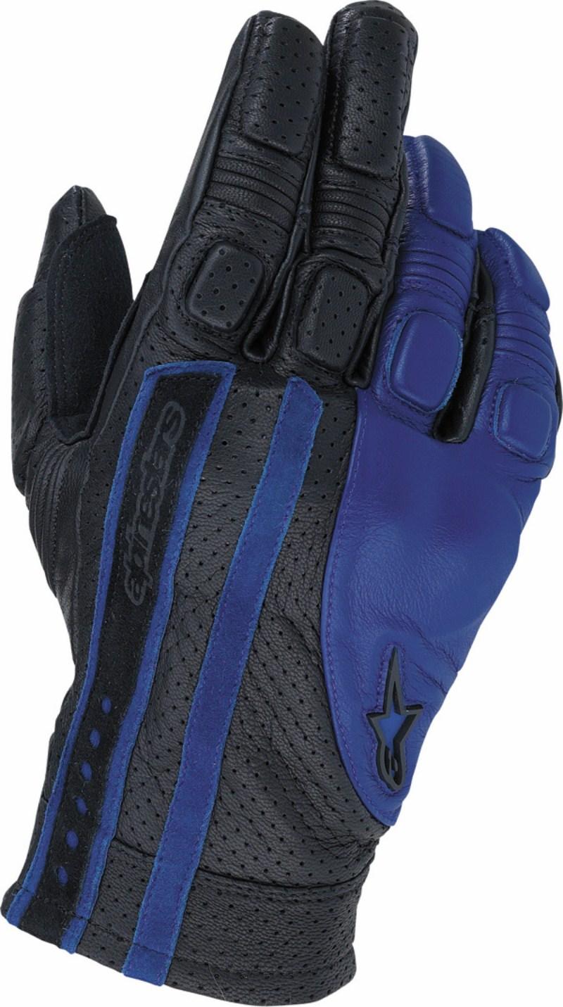 Guanti moto Alpinestars Sledge nero-blu