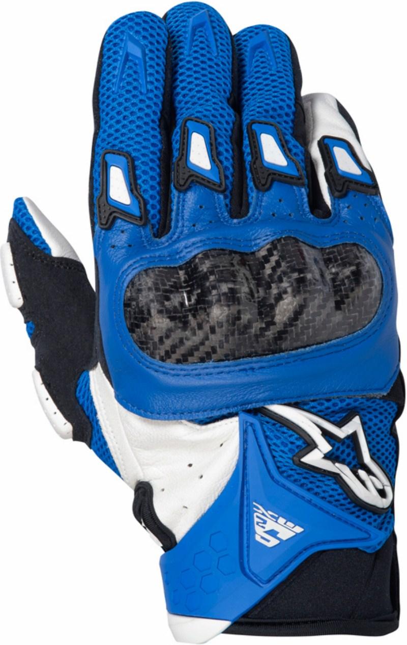 Alpinestars SMX-2 Air Carbon motorcycle gloves blue-white