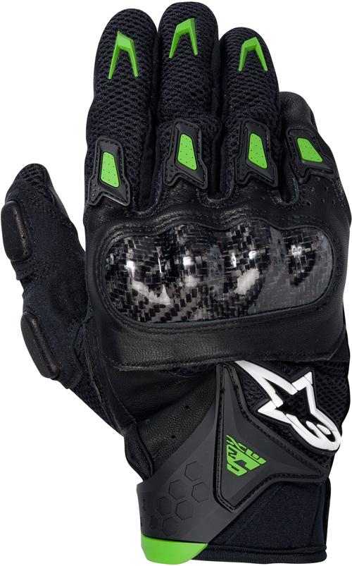 Alpinestars SMX-2 Air Carbon motorcycle gloves black-green