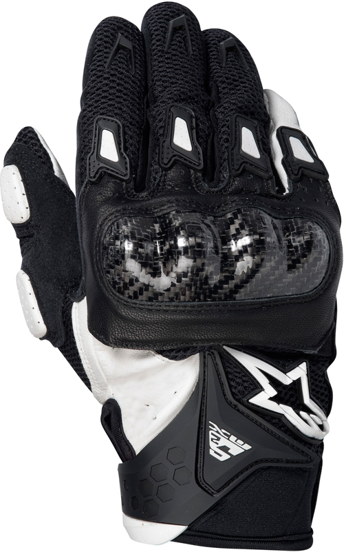 Alpinestars SMX-2 Air Carbon motorcycle gloves black-white