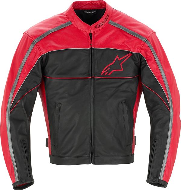 Alpinestars Spinner leather jacket black-red