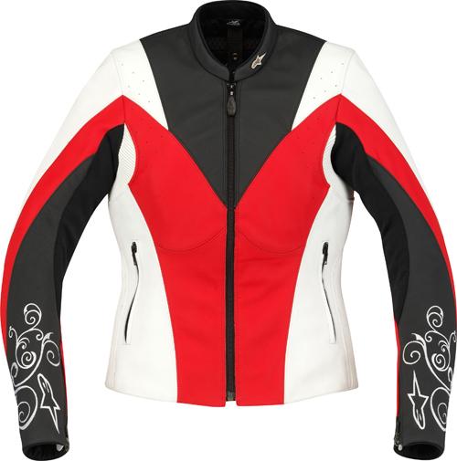 Alpinestars Stella Anouke leather women jacket white-red-black