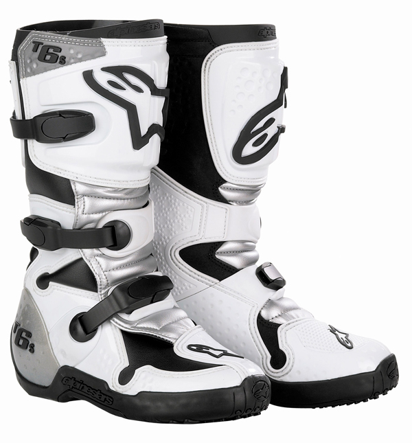 Alpinestars Tech 6S cross boots white-silver