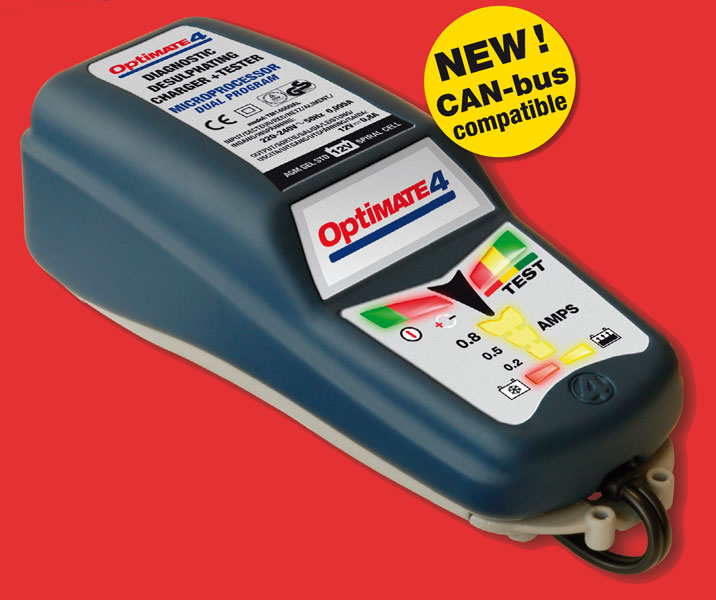 Motorcycle Battery Charger - Car TecMate Optimate 4 Dual Program