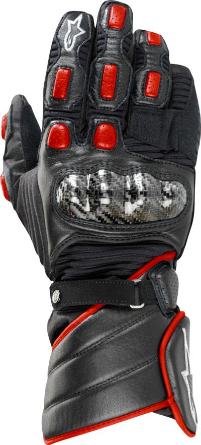 Alpinestars Vega Drystar leather gloves black-red