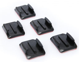 Curved Adhesive Mounts for GoPro Hero Video Camera
