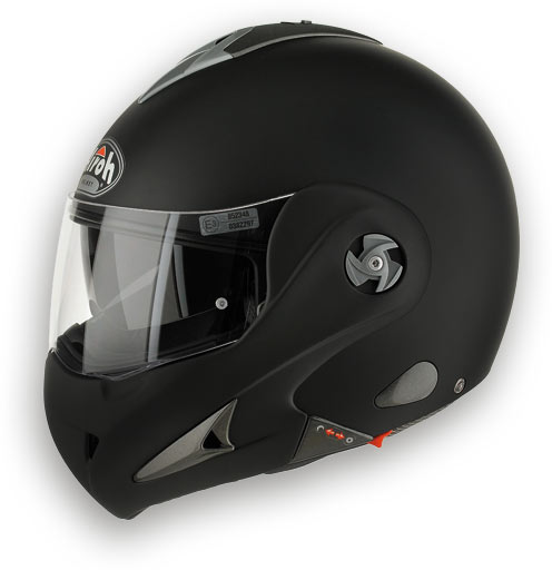 Casco moto modulare Airoh Mathisse RS X Color nero opaco