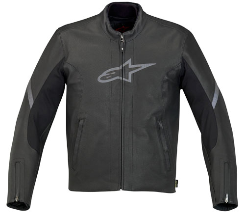 Giacca moto in pelle Alpinestars 365 Gore-Tex nera