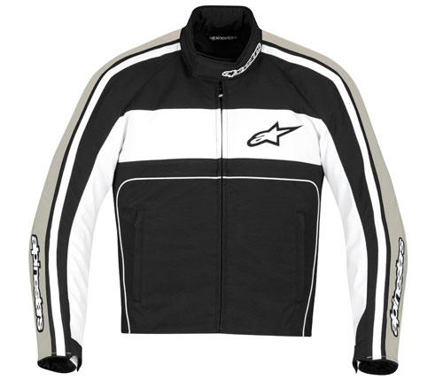 Giacca moto Alpinestars T-Dyno Waterproof nero-bianco-sabbia