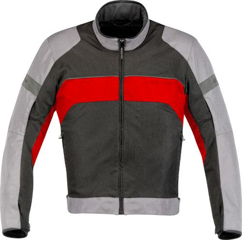 Giacca moto Alpinestars Xenon Air grigio chiaro-rossa