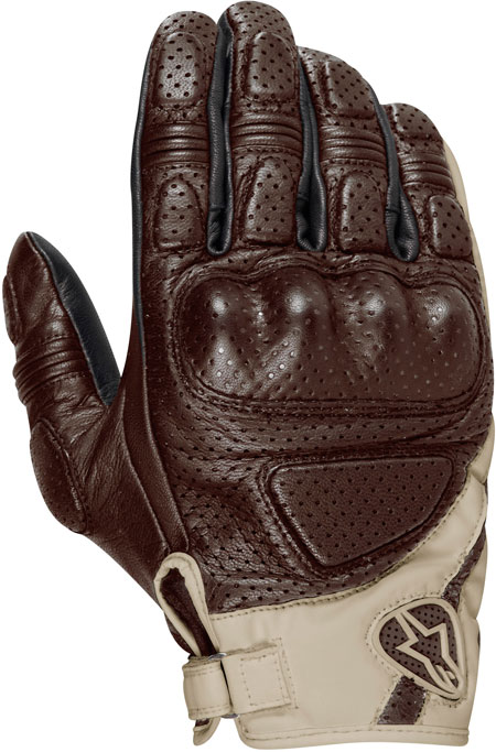 ALPINESTARS Mustang leather gloves col. choclate sand