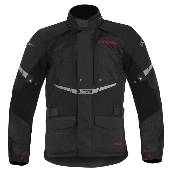 Alpinestar Andes Drystar motorcycle jacket black