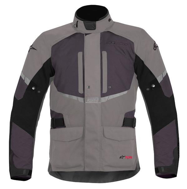Alpinestar Andes Drystar motorcycle jacket grey-black
