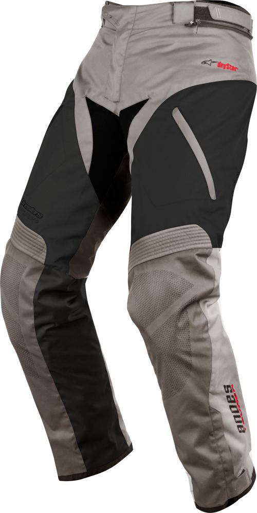 Alpinestars Andes Drystar motorcycle pants light grey - black