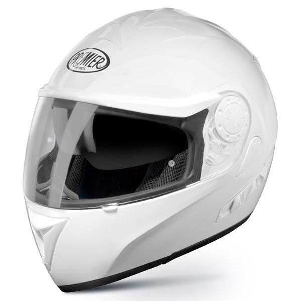 Casco moto modulare Premier DREAM LINER bianco doppia visera