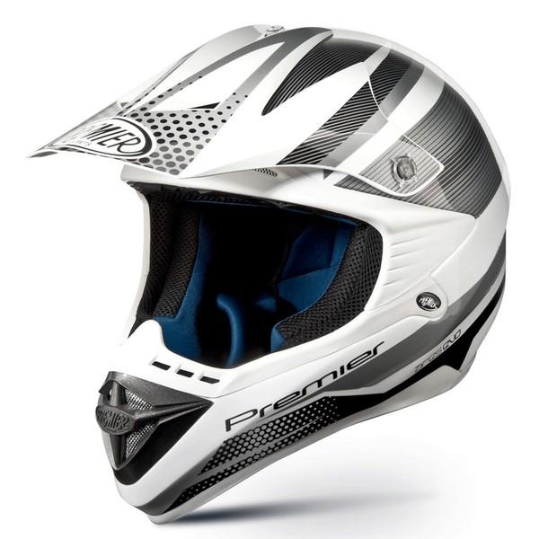 Cross motorcycle helmet Premier ARES EVO silver