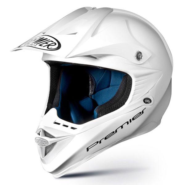 Casco moto cross Premier ARES EVO bianco