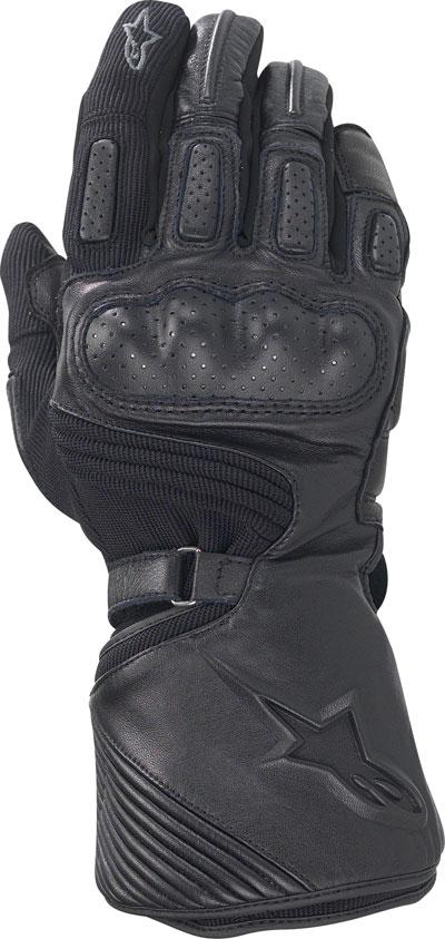 Guanti moto Alpinestars Apex Drystar tessuto-pelle neri
