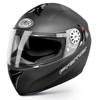Full face helmet Premier Angel monochrome matt black double face