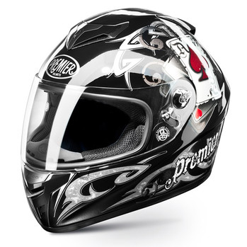 Full face helmet Premier Dragon Ages j8 black pitt reply